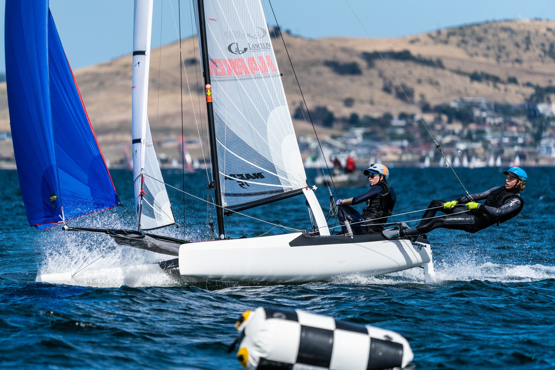 Ashleigh Swadlings and Nathan Bryant show Nacra style - Beau Outteridge pic