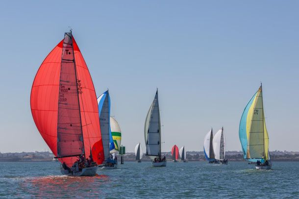 The cruising fleet at the Festival of Sails. Photo Guido Brandt Photography.