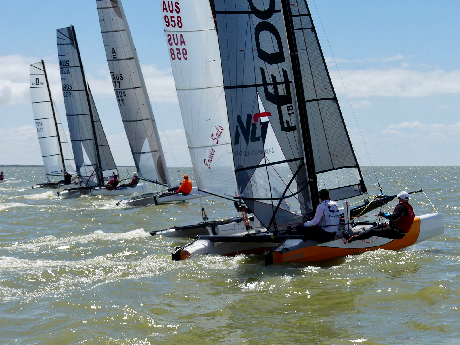 F18 cats have become regulars in the Milang Goolwa Classic - Down Under Sail pic