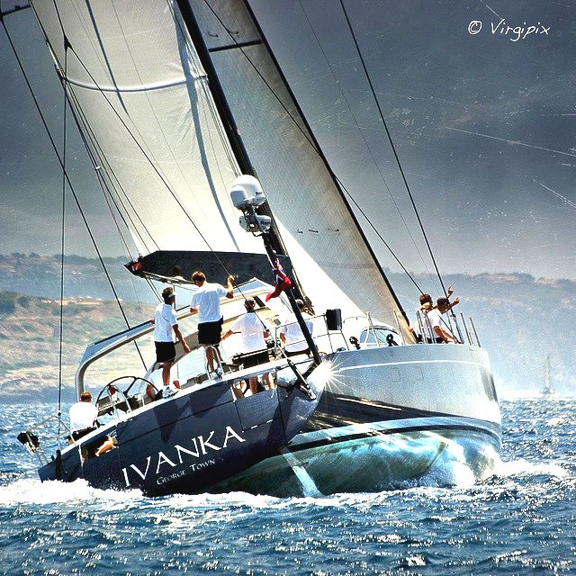 Crew from many different countries will be racing on the Russian-owned Shipman 80  Ivanka
