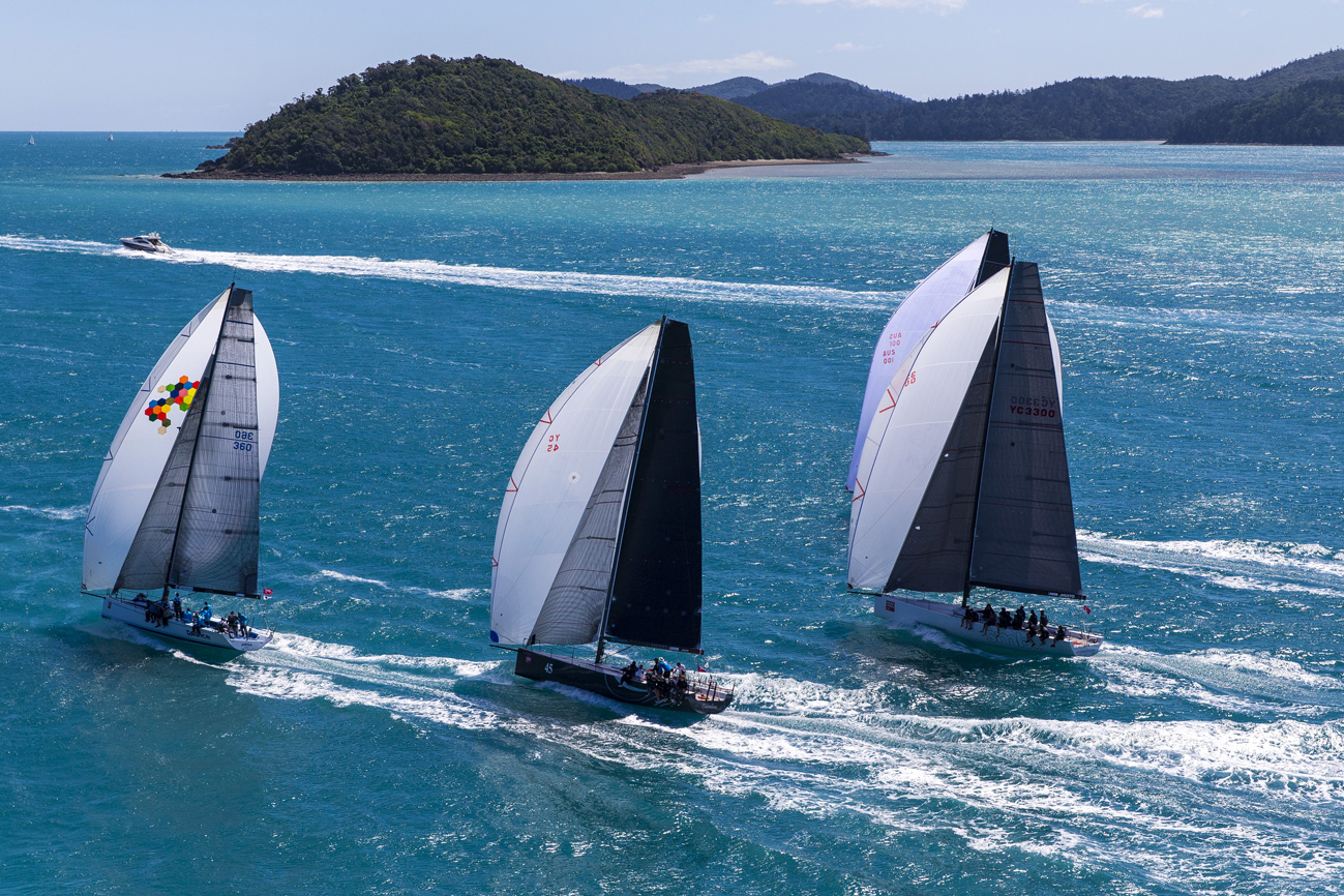 Rating division A racing around the Whitsundays. Photo Andrea Francolini.