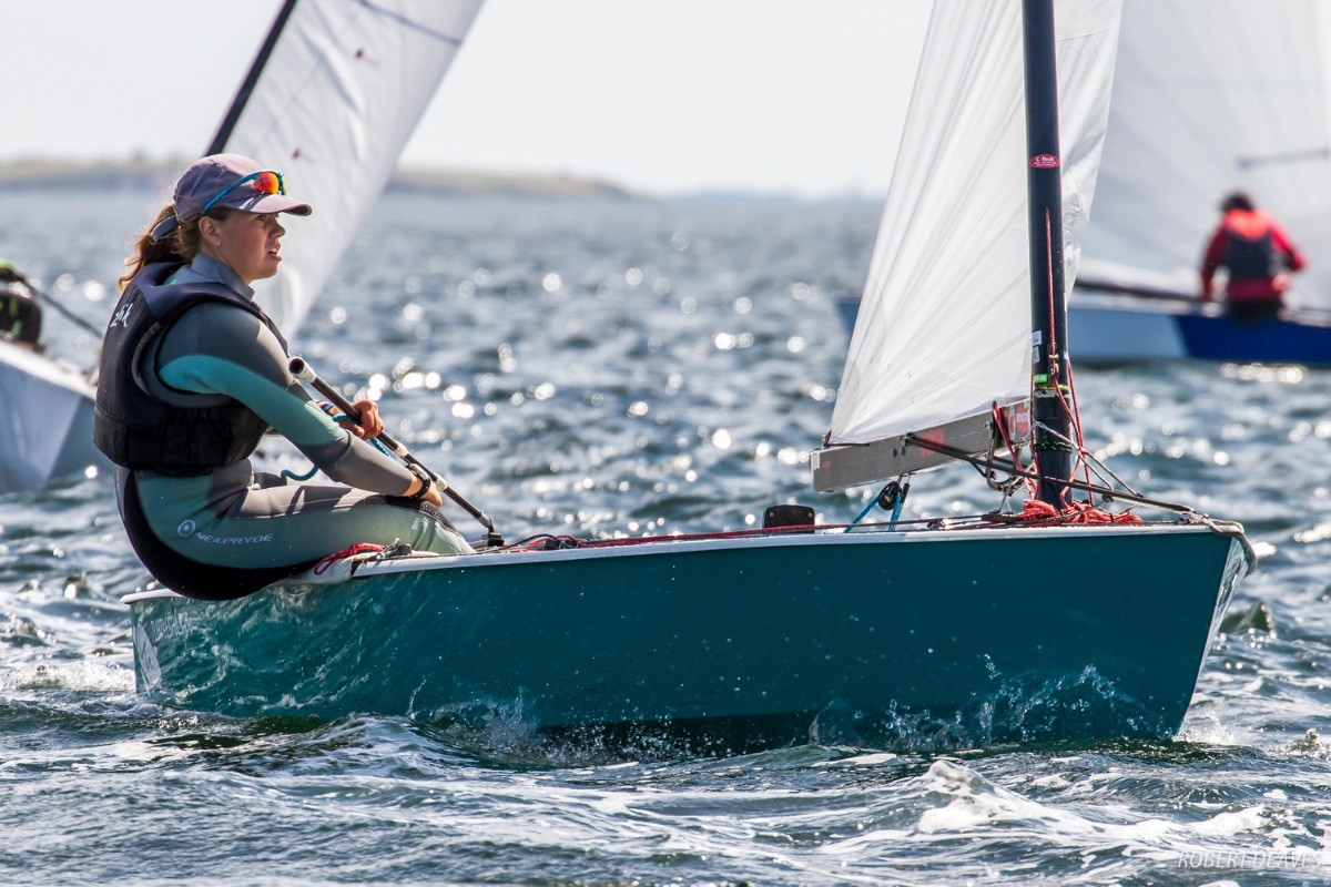 Maja Hansson-Mild sailing the 2017 European Championship in Faaborg. Photo Robert Deaves.