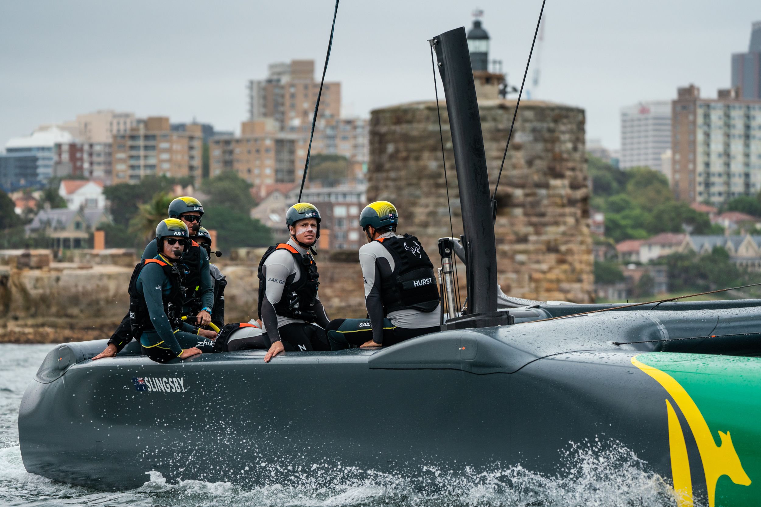 Aussie crew headed by Tom Slingsby on Sydney Harbour - Beau Outteridge pic
