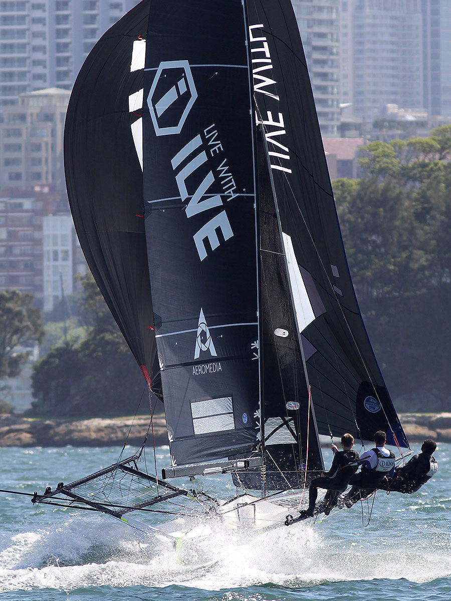 Ilve shows her speed down Sydney Harbour.