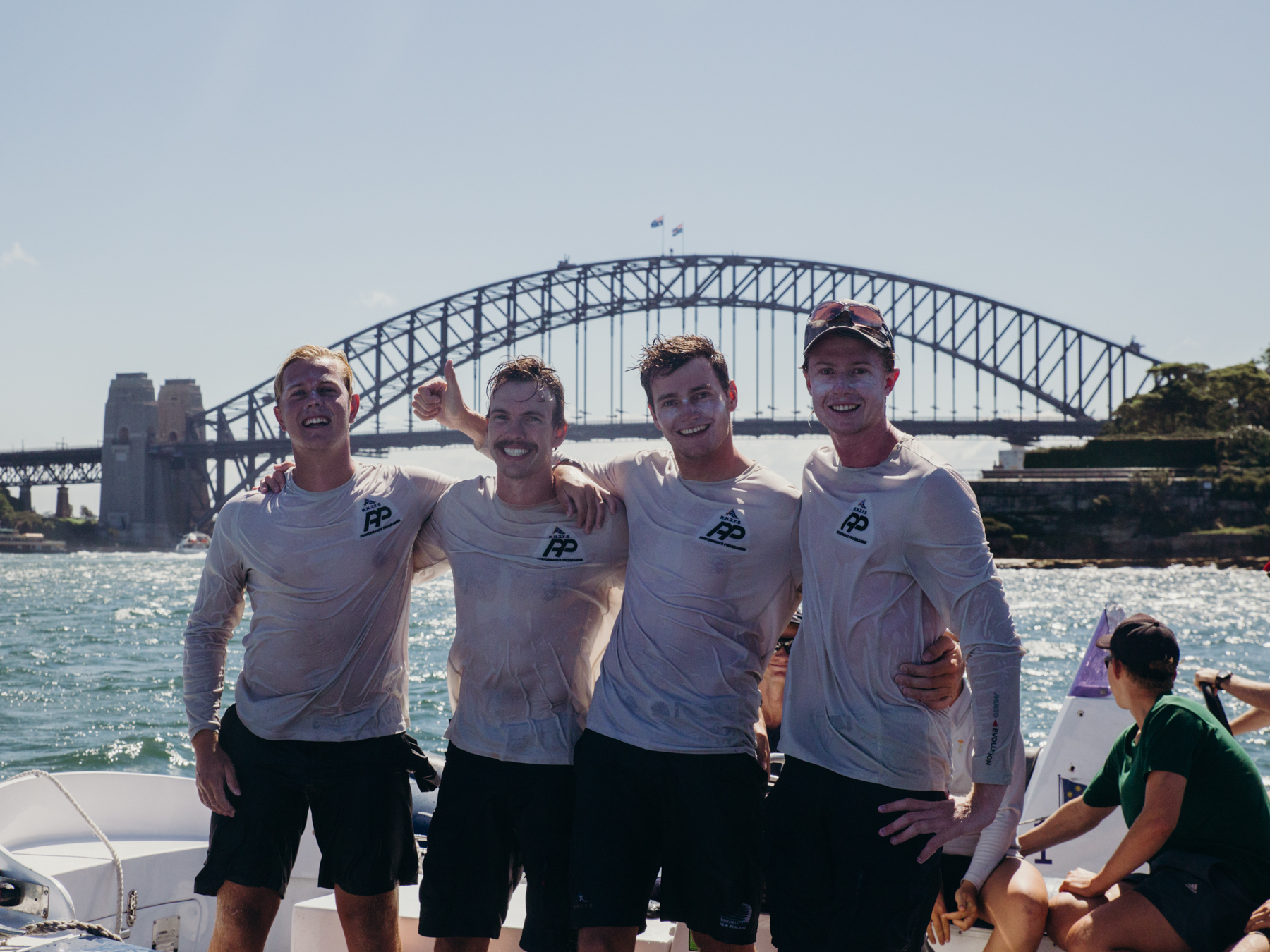 Hardy Cup winners RNZYS with the Harbour Bridge in the background. Photo credit Darcie C Photography