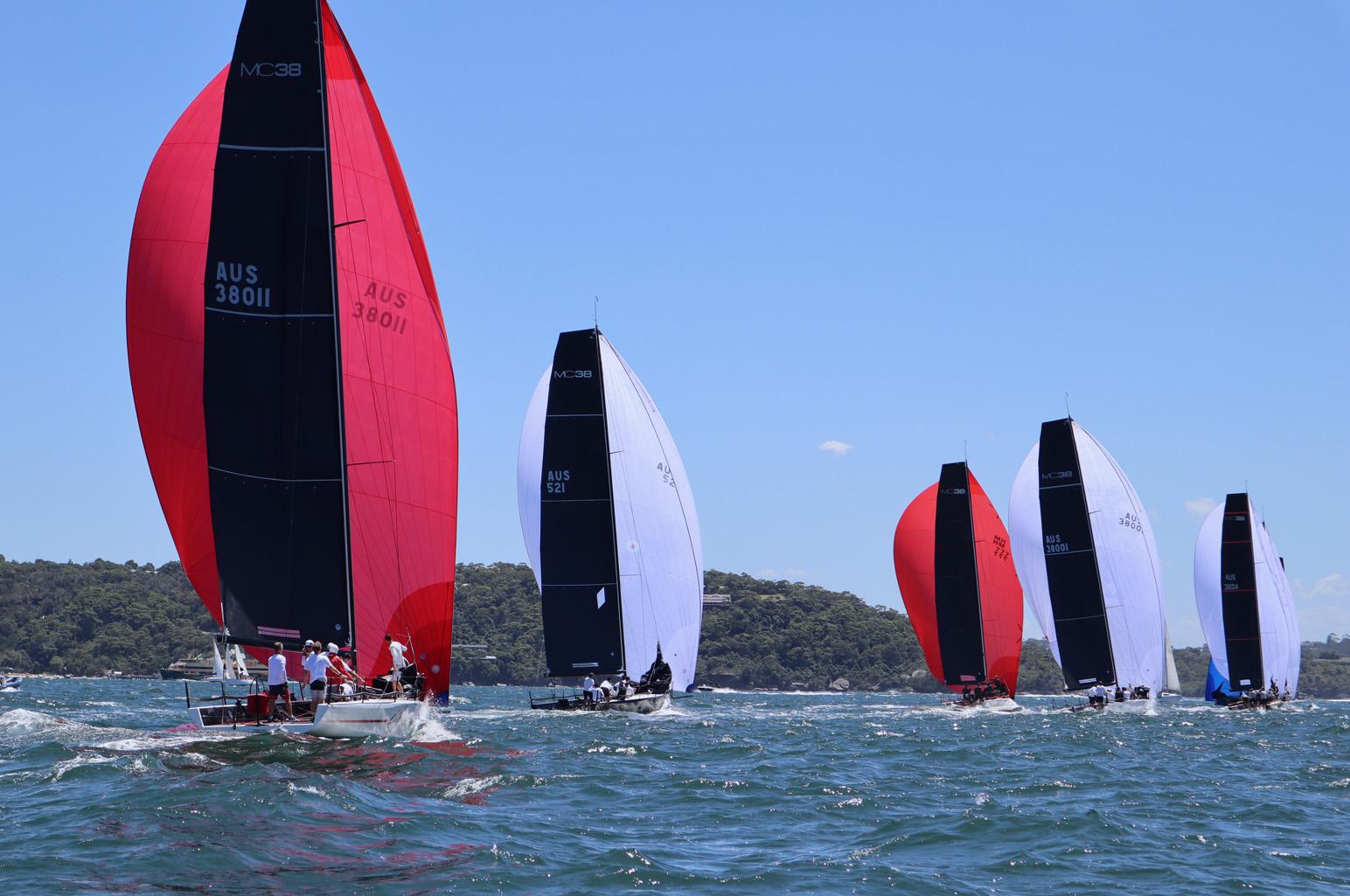 MC38 Act 1 fleet downwind day 2. Photo credit Lisa Ratcliff-OCC.