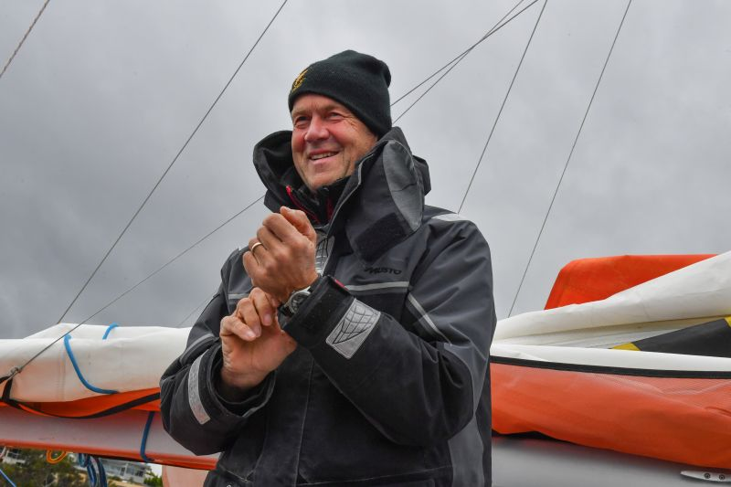 Uku Randmaa - still smiling despite a badly cut finger.