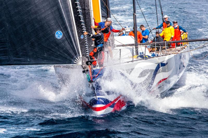 Monohull Line Honours for Volvo 70 Wizard after completing the race in an elapsed time of 1d 19h 38m 44s/ Photo © Arthur Daniel/RORC.
