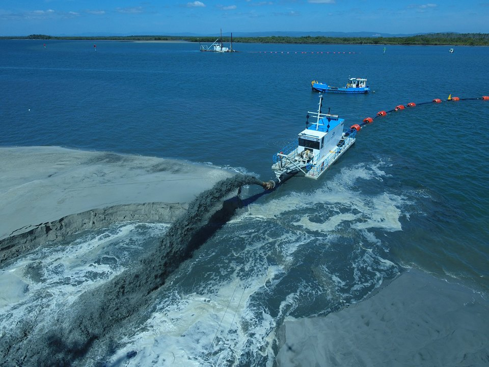 Dredging of Canaipa Passage. Photo Gold Coast Waterways Authority.