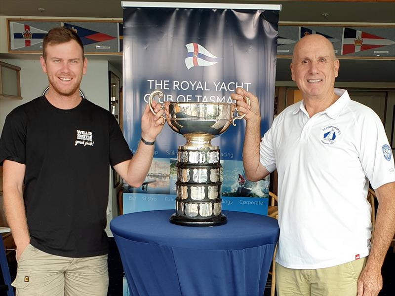 Elliott Noye and Nick Rogers with the famous Sayonara Cup at RYCT - Peter Campbell pic