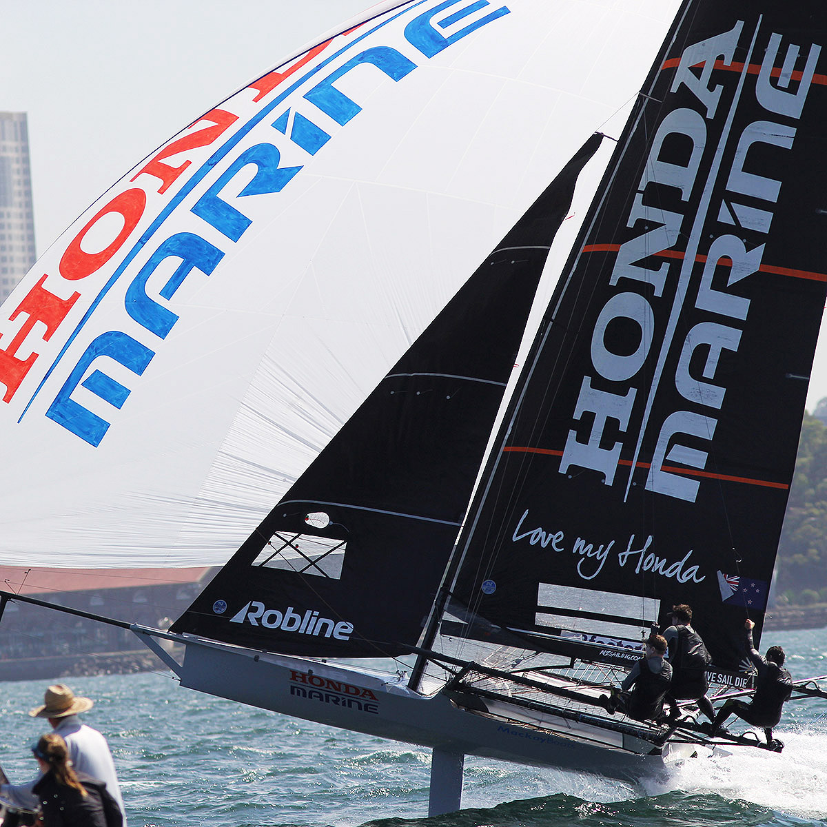 Defending champion Honda Marine team finished second in Race 3.