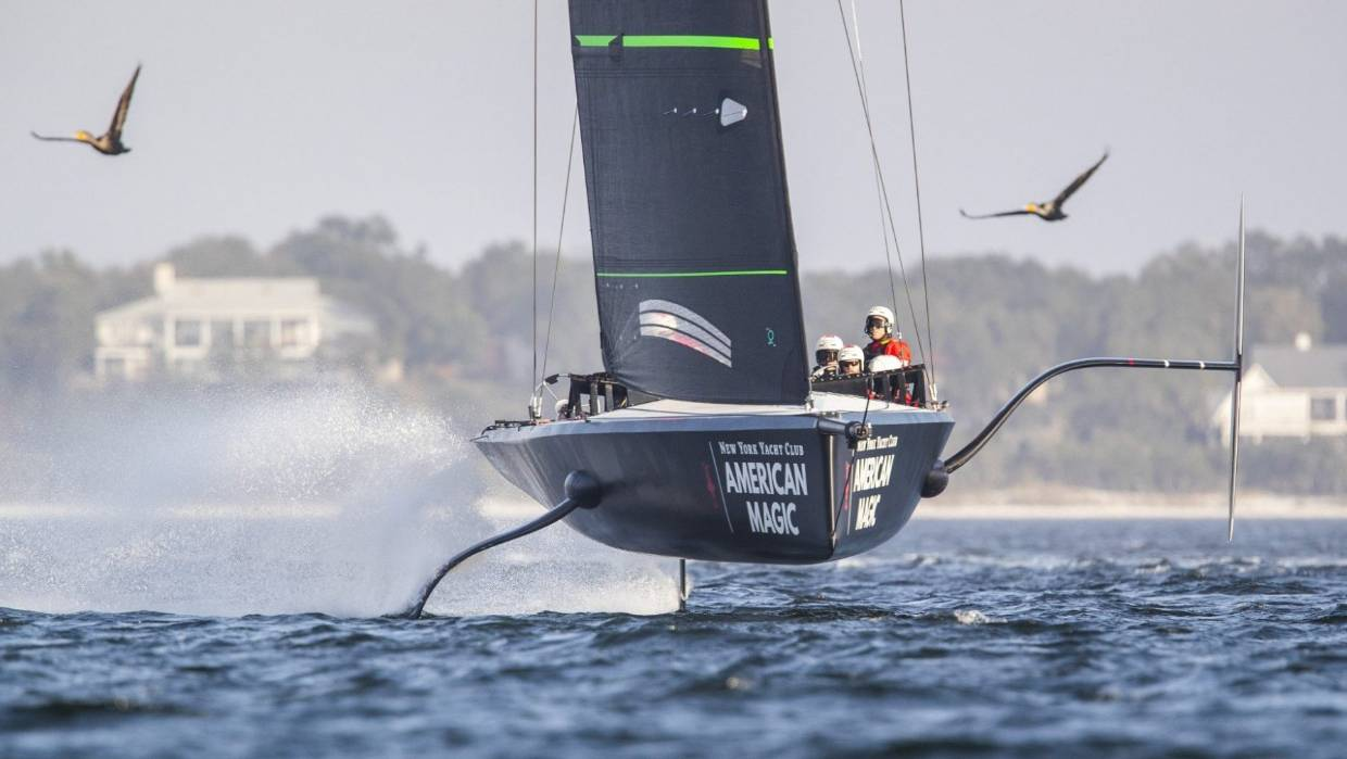 The New York Yacht Club have made the most out of their testing programme in Florida where they have had their scaled-down America's Cup boat flying. Image: American Magic.