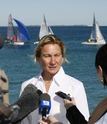 Olympic champion Belinda Stowell. Photo Sport for Women.