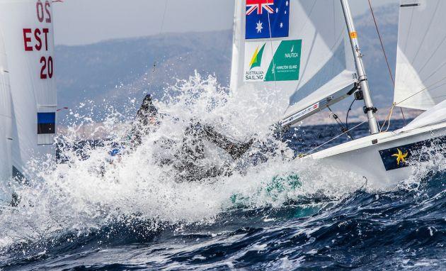 Testing conditions at the Trofeo Princesa Sofia regatta in Palma. Photo Jesus Renedo/Sofia.