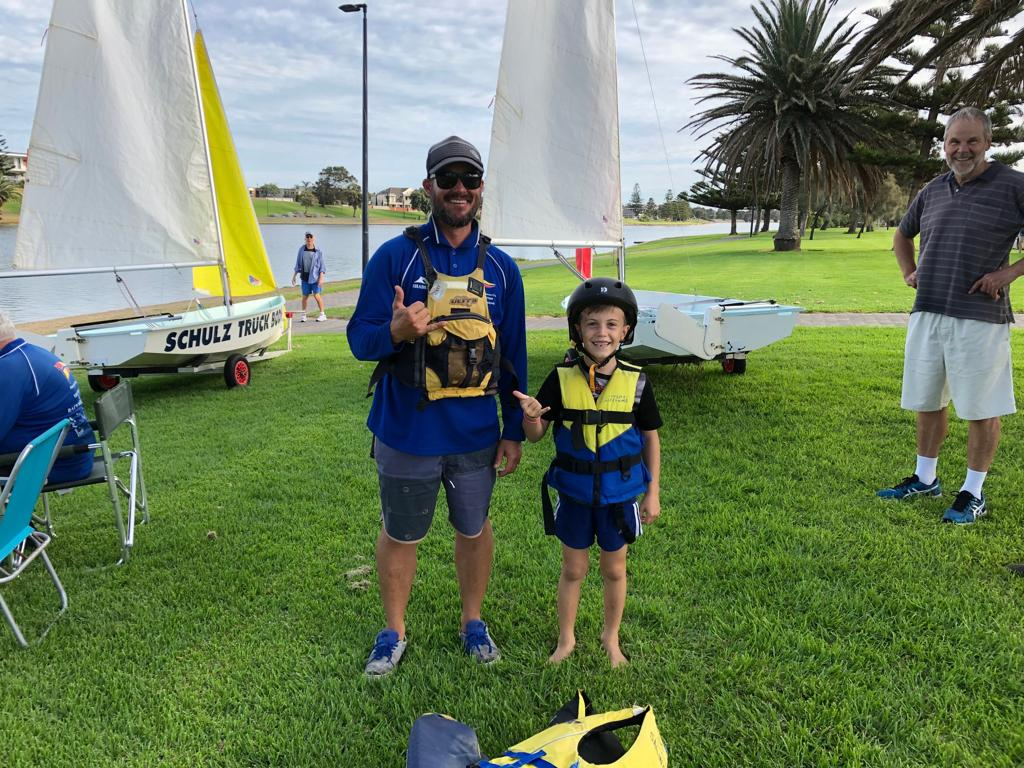 Adults-and-kids-prepare for sailing