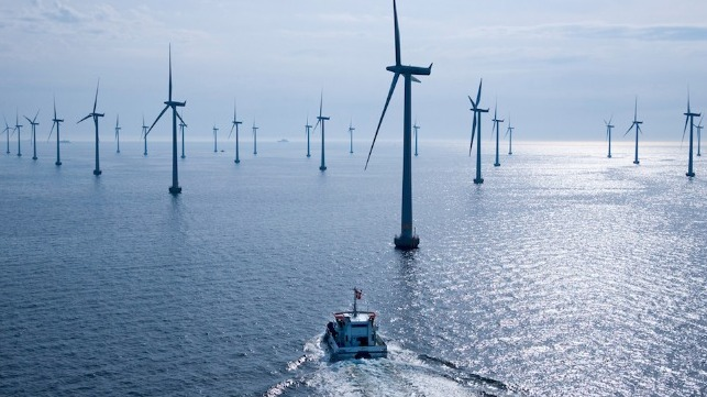 Offshore wind farm. File photo courtesy of Friends of the Earth.