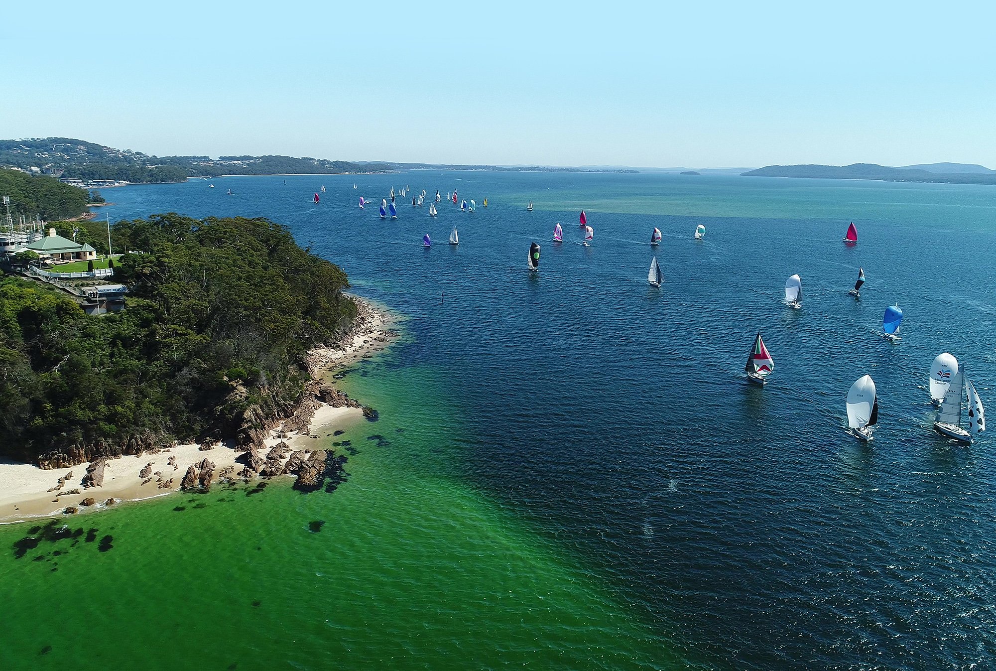 Sail Port Stephens commodores cup fleet.
