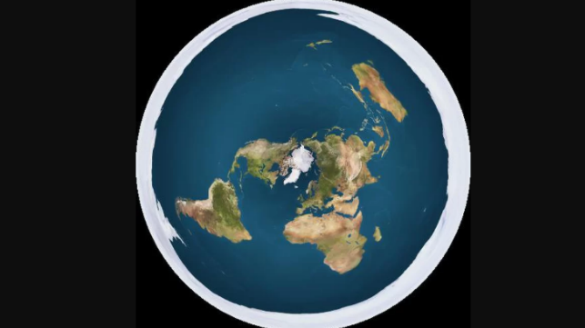 The flat earth as seen from space (file image via Creative Commons)