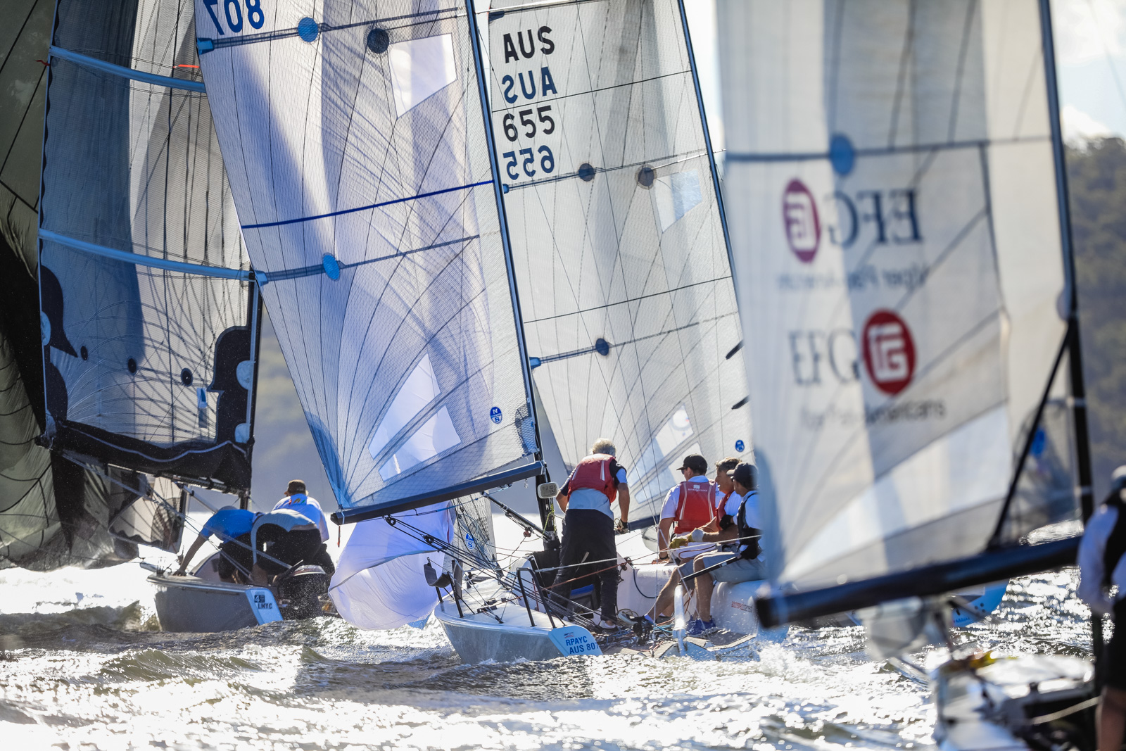 Sports boats at Sail Port Stephens 2017. Photo credit Salty Dingo