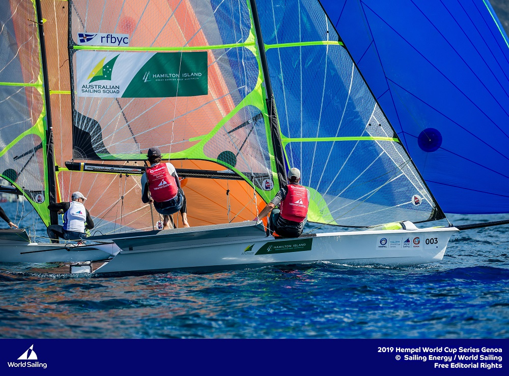 David and Lachy Gilmour go-into-the-medal-race-in-first-place - Sailing Energy pic