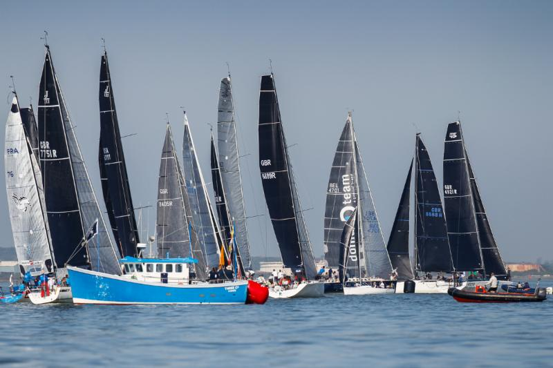 A-ghost-of-a-breeze-gave-the-fleet-a-chance-for-a-practice-start-Paul-Wyeth-pic
