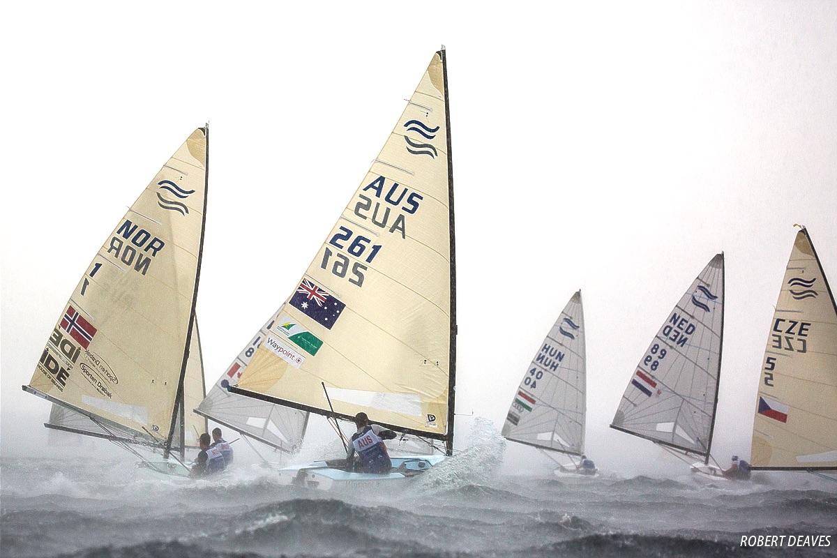 Elite Finn competition - Robert Deaves pic