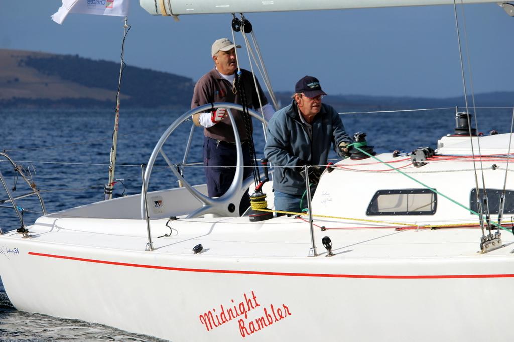 Sydney Hobart race veteran Ed Psaltis and Graham McKibben aboard Division 3 (non-spinnaker