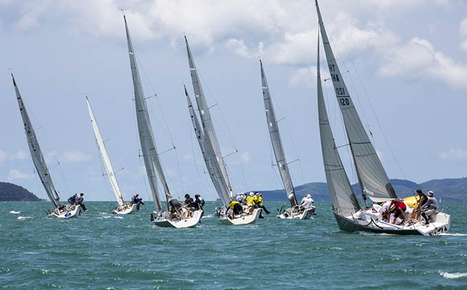 Twelve-strong Platu class delivered some close racing. Photo by Guy Nowell.