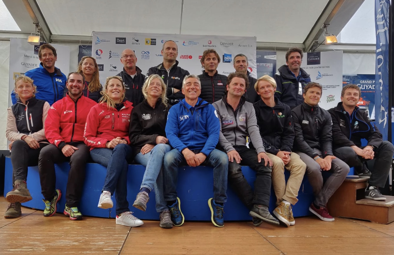 Sixteen of the 17 solitaires who will start the BERMUDES 1000 RACE