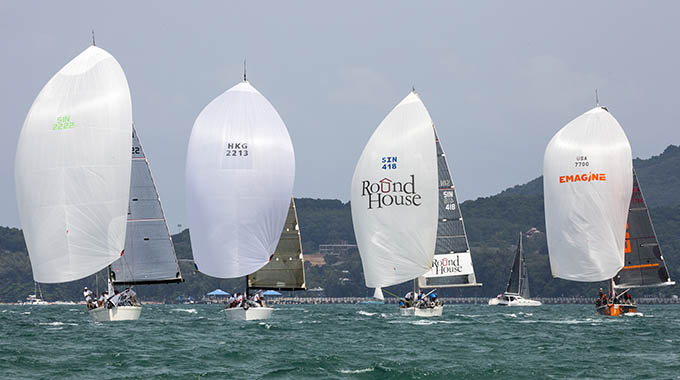 Organisers are looking to grow international participation in the Cape Panwa Hotel Phuket Race Week regatta over coming years. Photo by Guy Nowell.