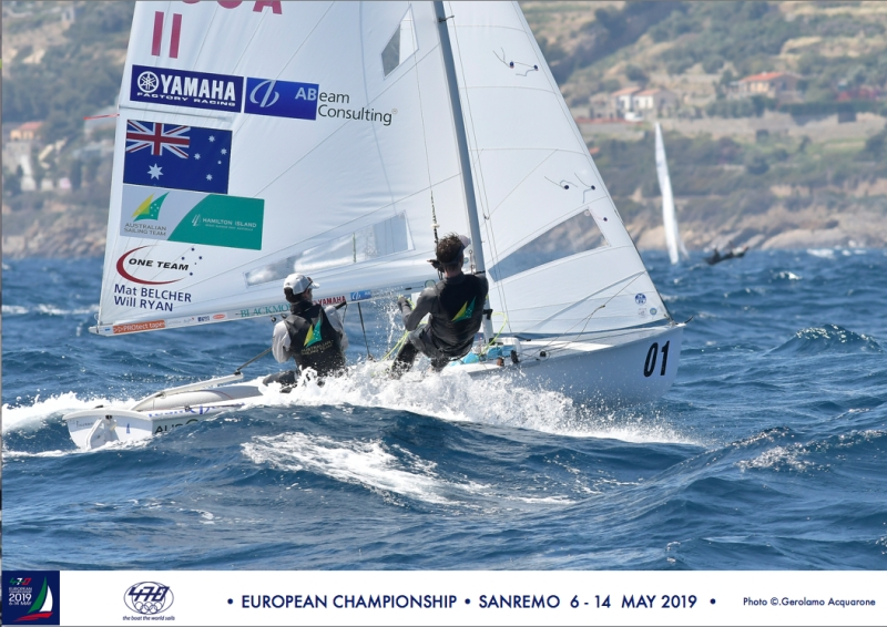 Mat Belcher and Will Ryan at the 470 Europeans.