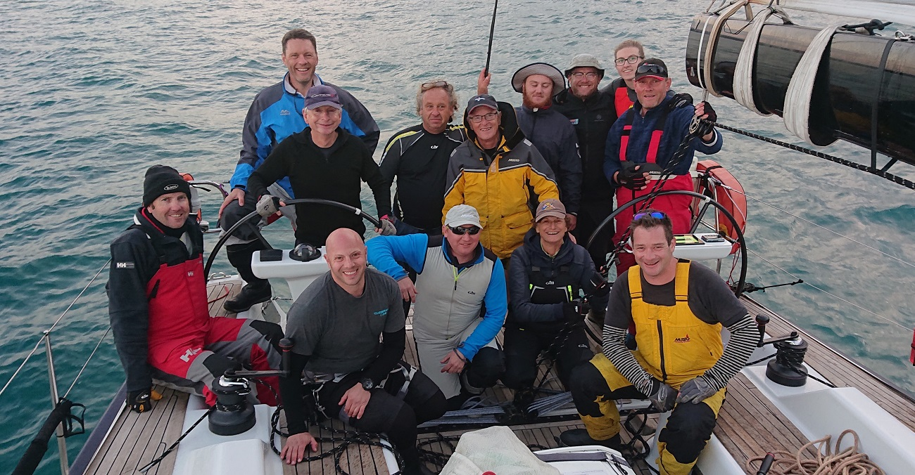 Crew of Carrera S after taking line honours - ORCV media pic