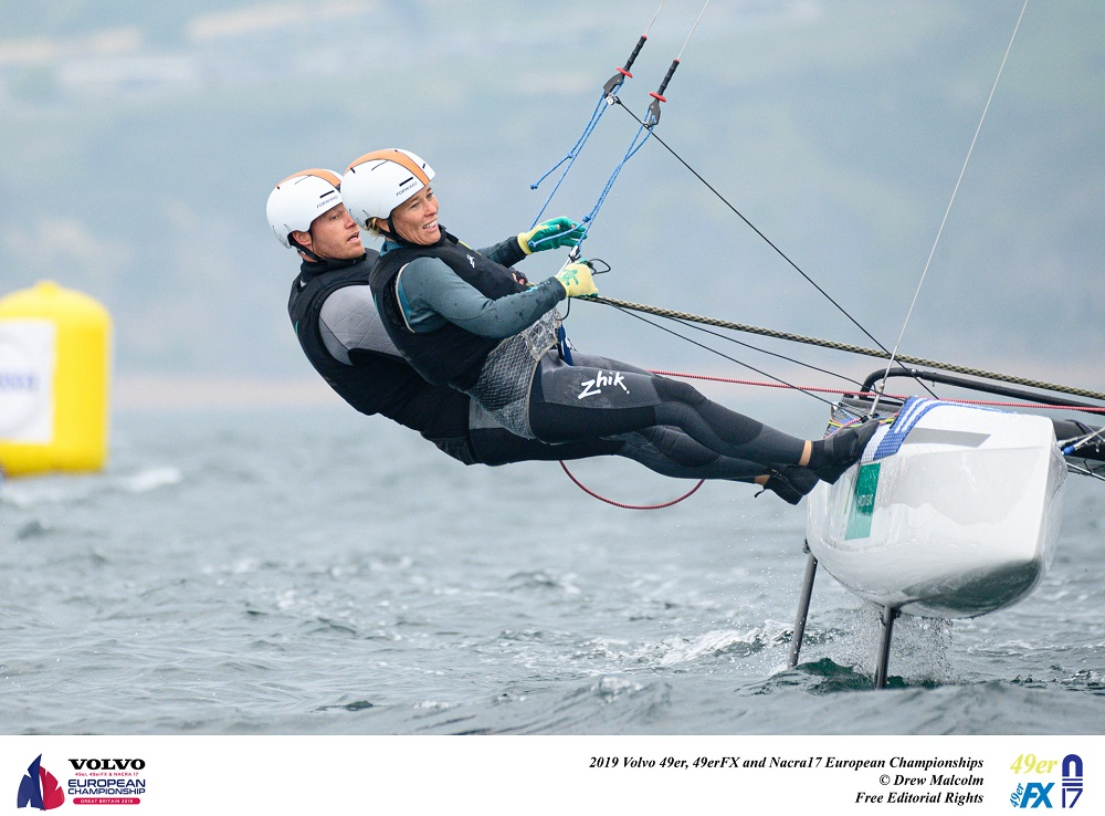 Nathan and Haylee Outteridge finished 10th overall - Drew Malcolm pic - Nacra 17 Europeans.