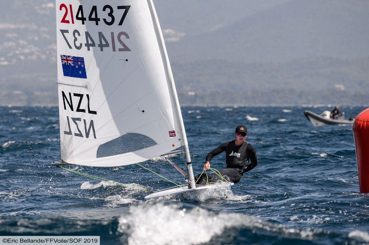 Sam Meech (NZL) at the 2019 Laser Europeans