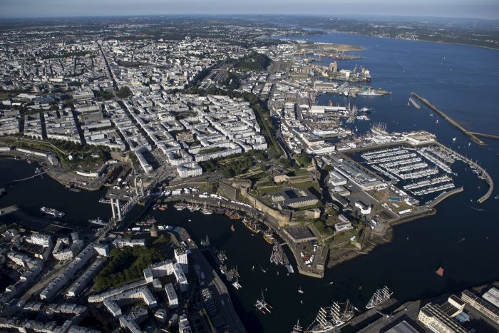 The city of Brest in Northern Brittany will host the start of The Transat 2020. Image Credit: Alexis Courcoux.