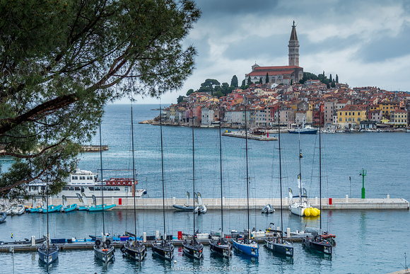 The 44Cup fleet in front of Rovinj old town. Photo Martinez Studio.