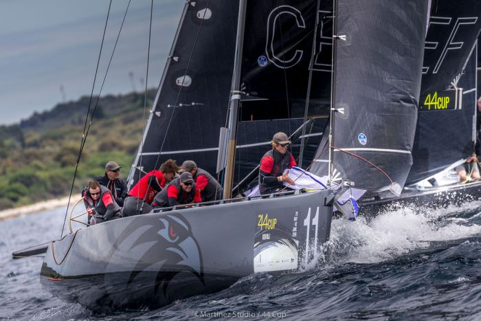 Local heroes Team CEEREF led going into the Adris 44Cup Rovinj and won today's one race. Photo Martinez Studio.