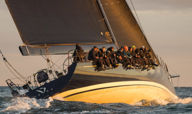Vera was winner under IRC corrected time in the maxi boat class. Photo Studio Borlenghi.