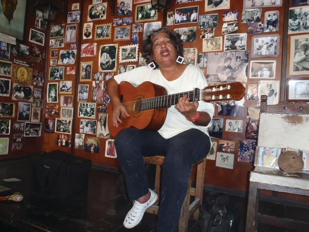 The Cuban's love of music was simply everywhere.