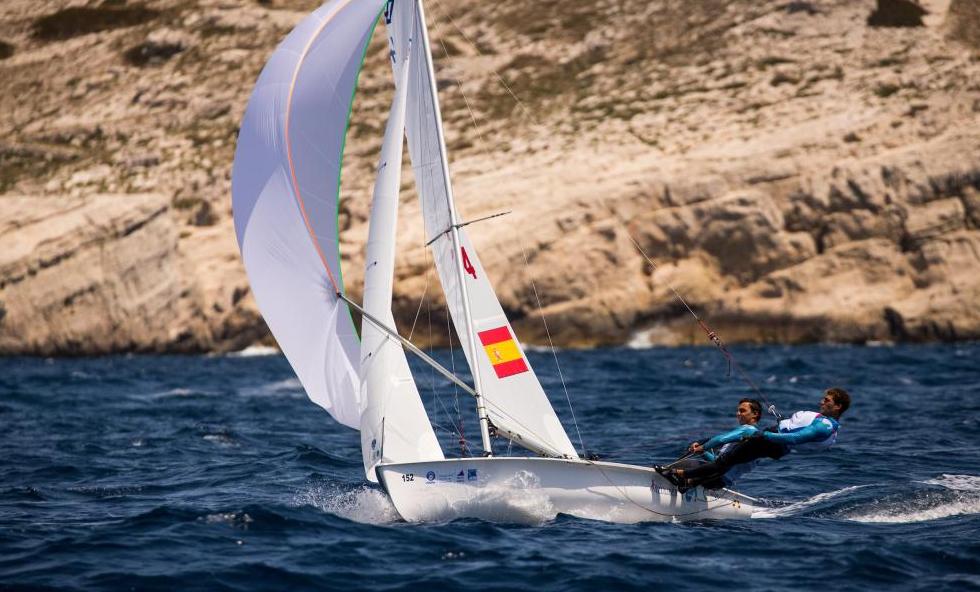 Spain's Jordi Xammar and Nicolás Rodriguez at World Cup Series Final 2019. Photo World Sailing.