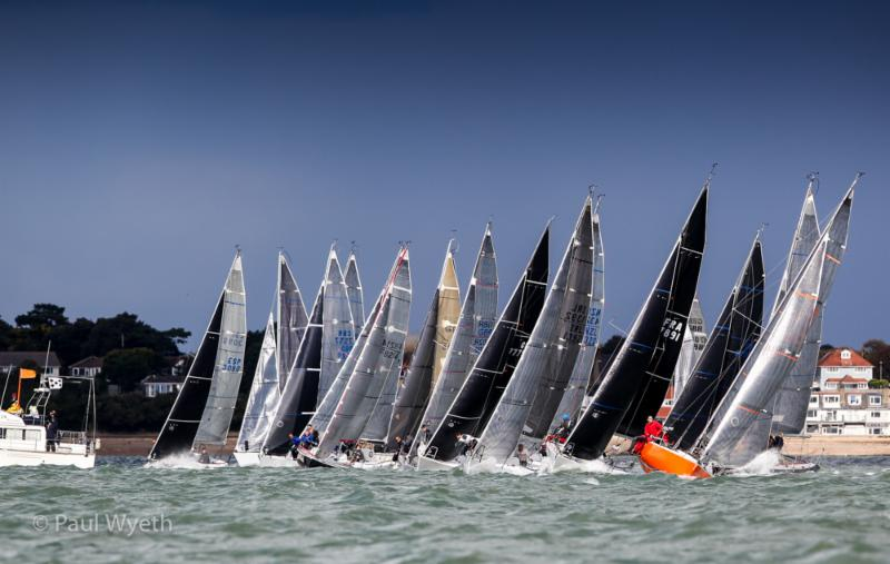 Start line action at the Coutts Quarter Ton Cup 2017 - photo (c) Paul Wyeth.
