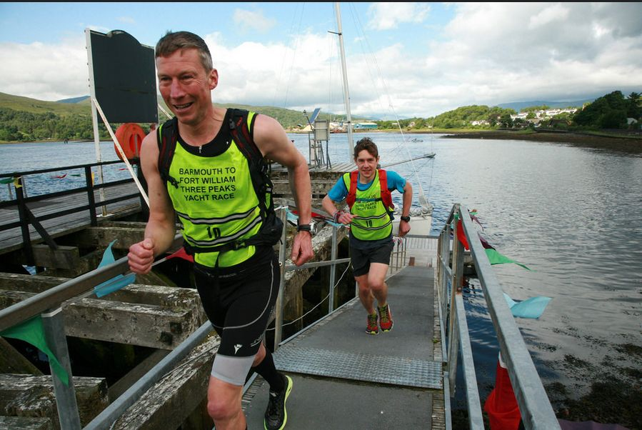 Arrival at Corpach for the Ben Nevis Run. Photo Rob Howard.