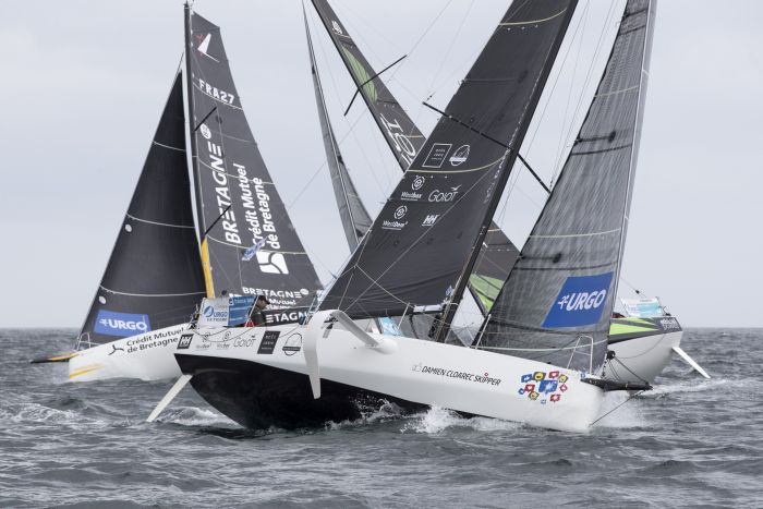 Start of the third stage of La Solitaire Urgo Le Figaro 2019 - Roscoff.
