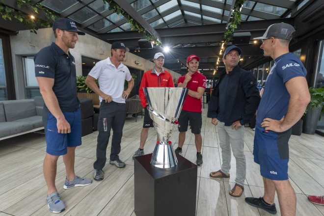 The SailGP trophy Trophy designed by iconic trophy maker Thomas Lyte.