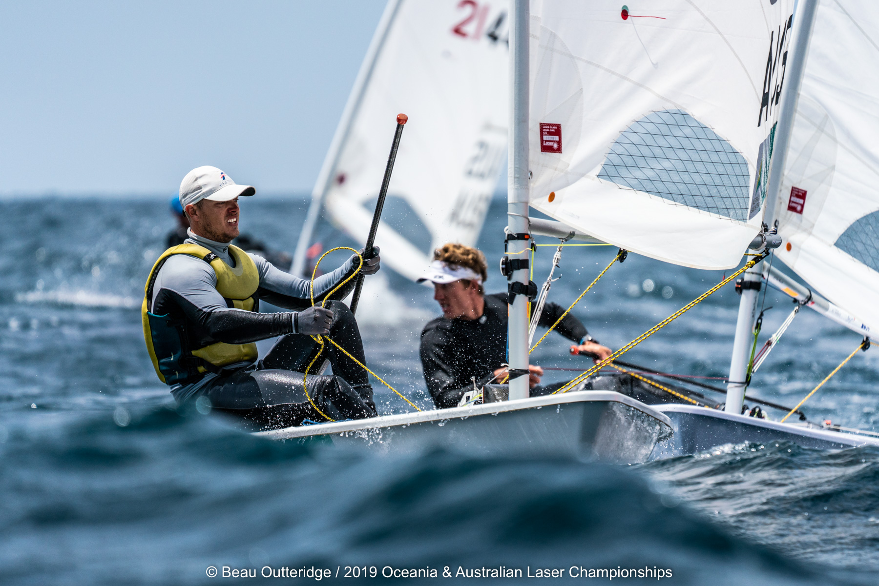 Competition will be fierce at the 2020 Australian Laser Championships. Photo Beau Outteridge/PSA.