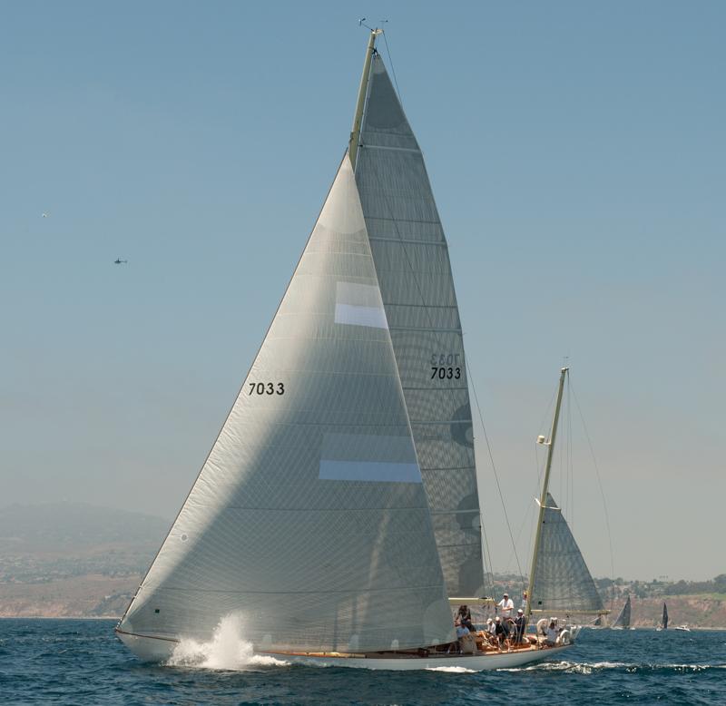 Chubasco charges off the start - photo Doug Gifford/Ultimate Sailing.