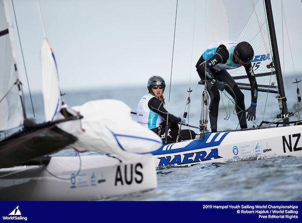 Nacra 15 Youth Worlds 2019. Photo Robert Hadjuk/World Sailing.