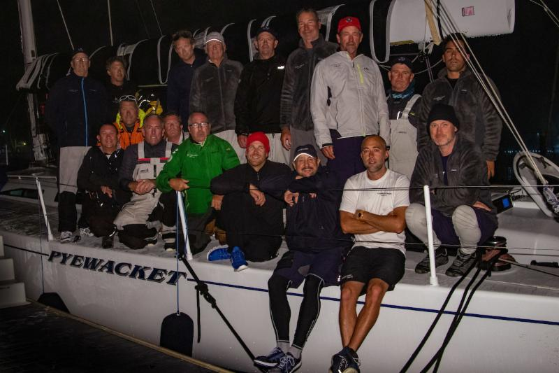 The rescuers and the rescued: members of the OEX and Pyewacket teams at their safe arrival to Marina del Rey - photo Allyson Bunting/Ultimate Sailing.