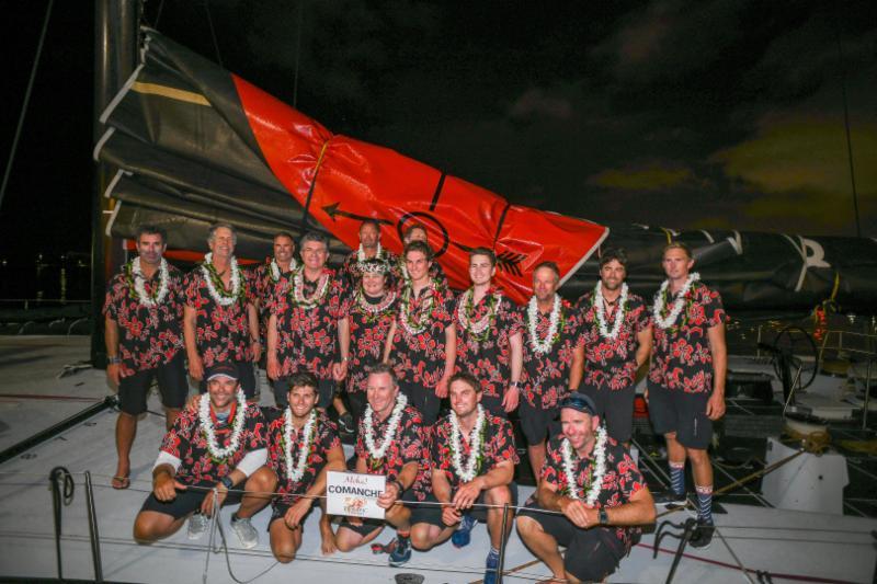 Comanche crew at the dock - Walt Cooper pic
