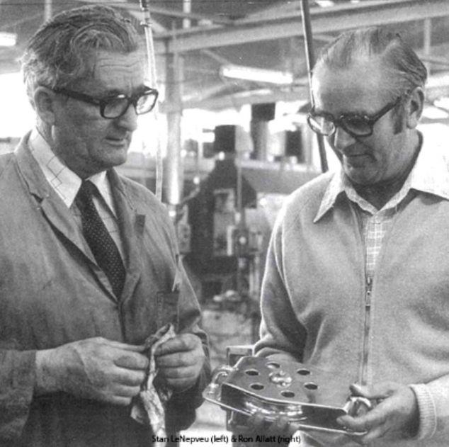 Stan LeNepveu (left) and Ron Allatt